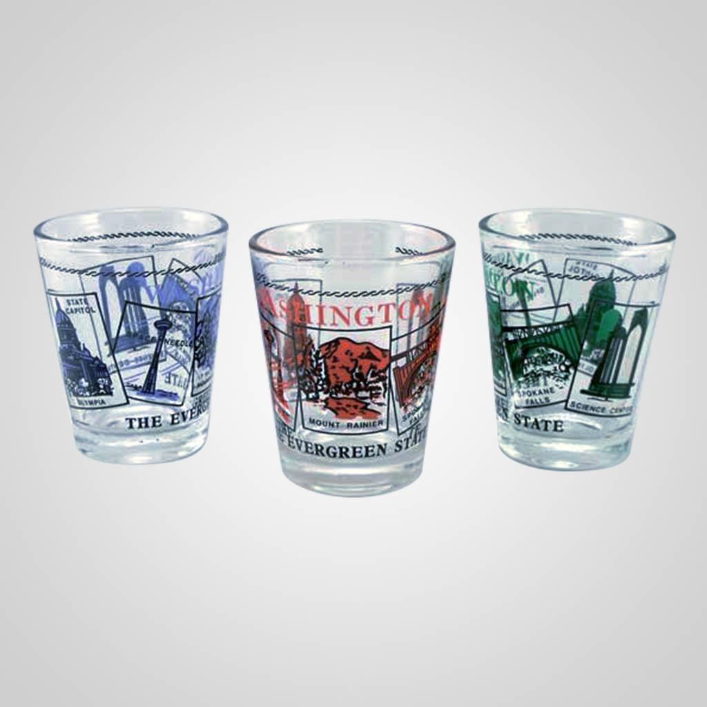 20021WA - Shot Glass, Washington Scenes