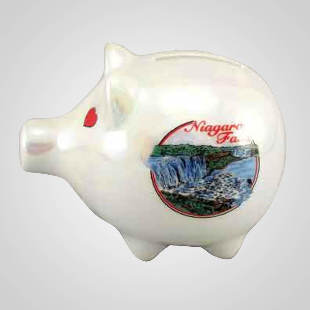 20265NF - Luster Piggy Bank, Niagara Falls