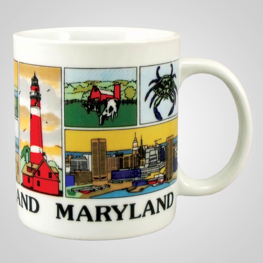 20412MD - Multi-Block-Wrap Mug, Maryland