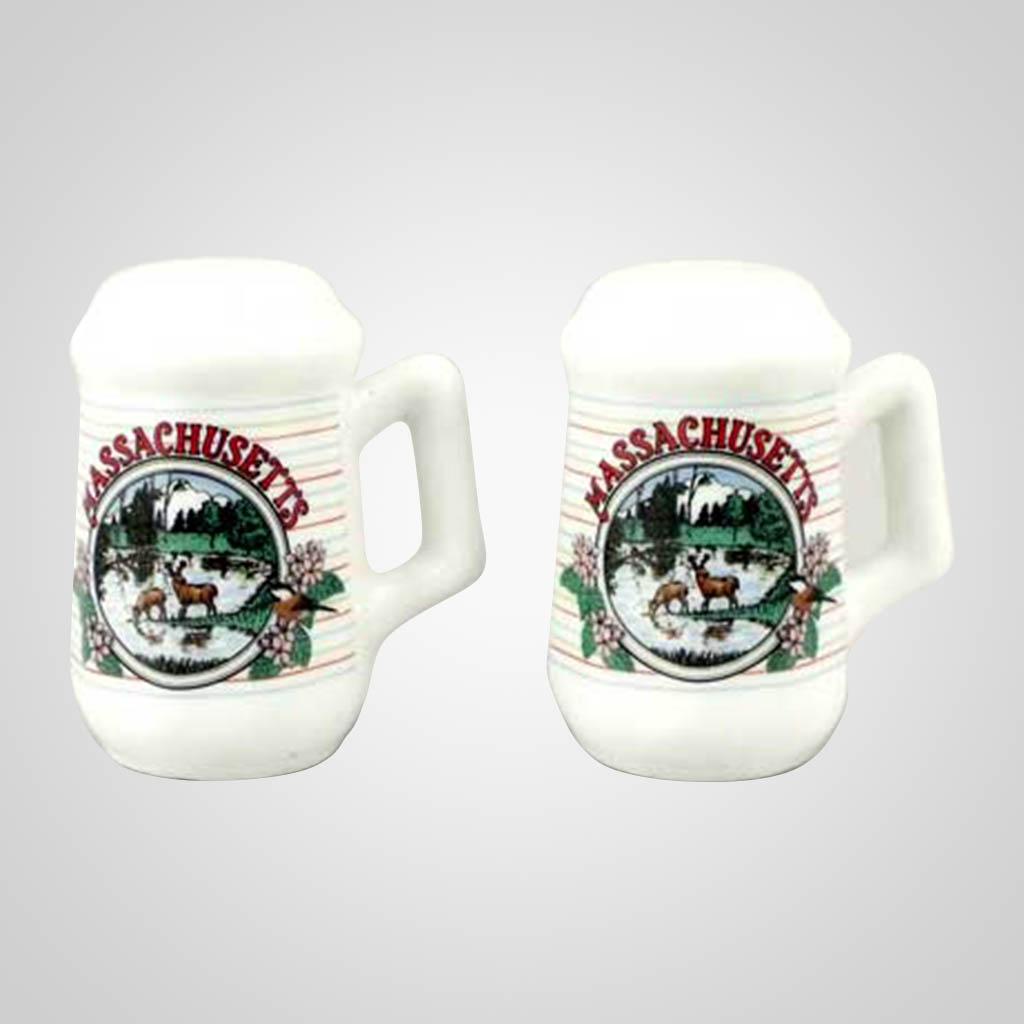 20435MA - Salt & Pepper Shakers, Massachusetts