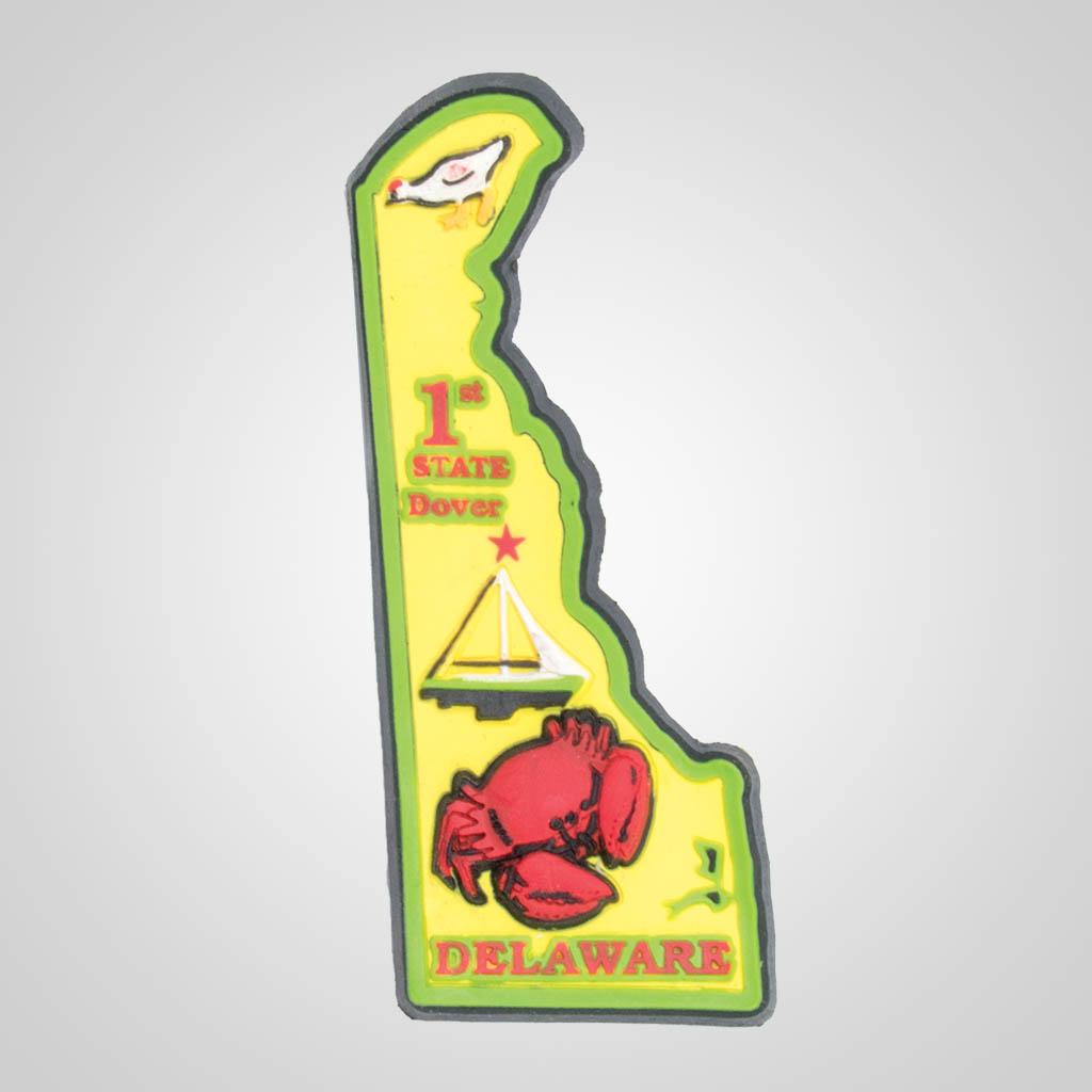 21588DE - PVC State Magnet, Delaware, Bulk