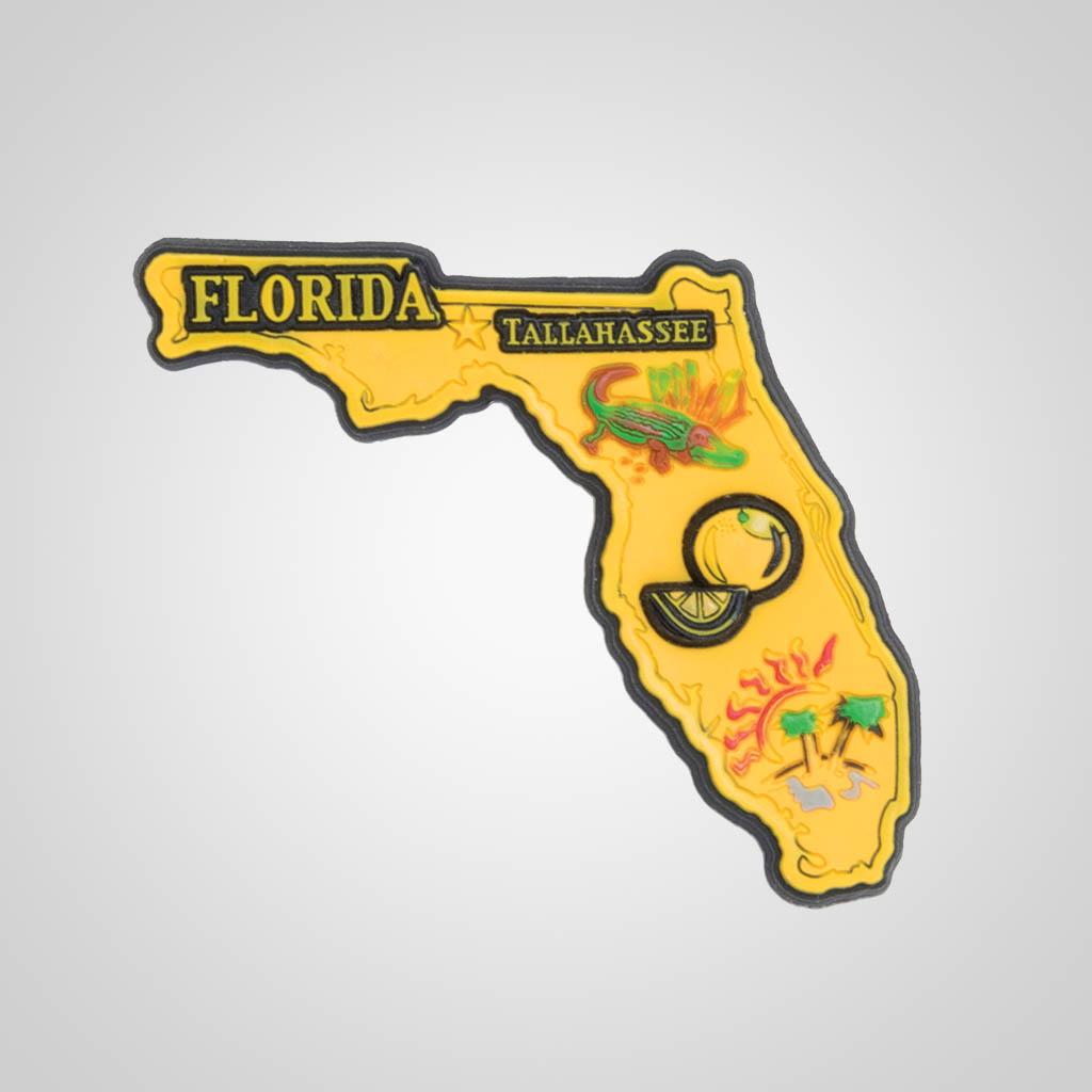 21588FL - PVC State Magnet, Florida, Bulk