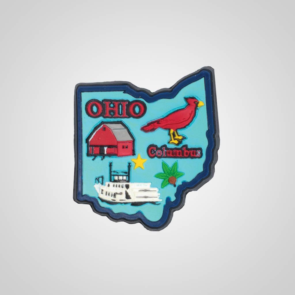 21588OH - 2-D PVC Ohio Magnet