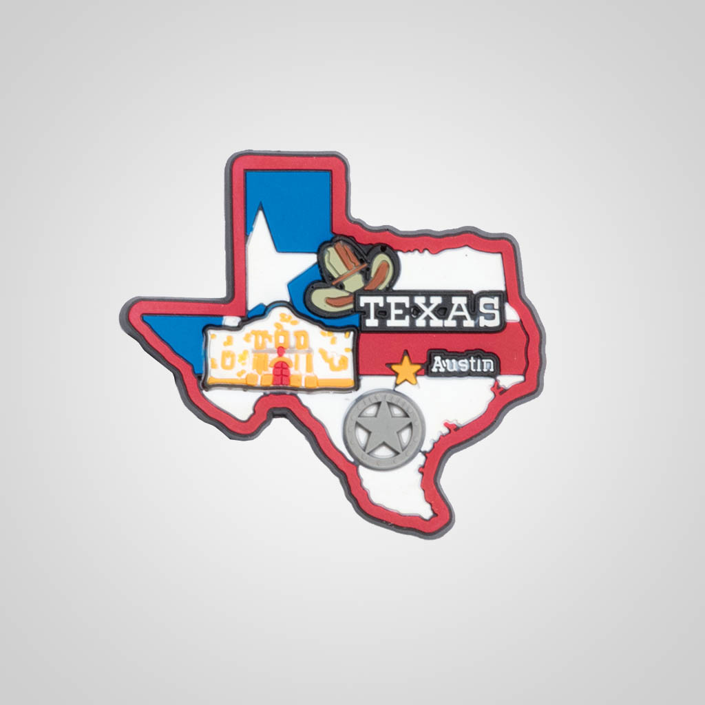 21588TX - PVC State Magnet, Texas, Bulk