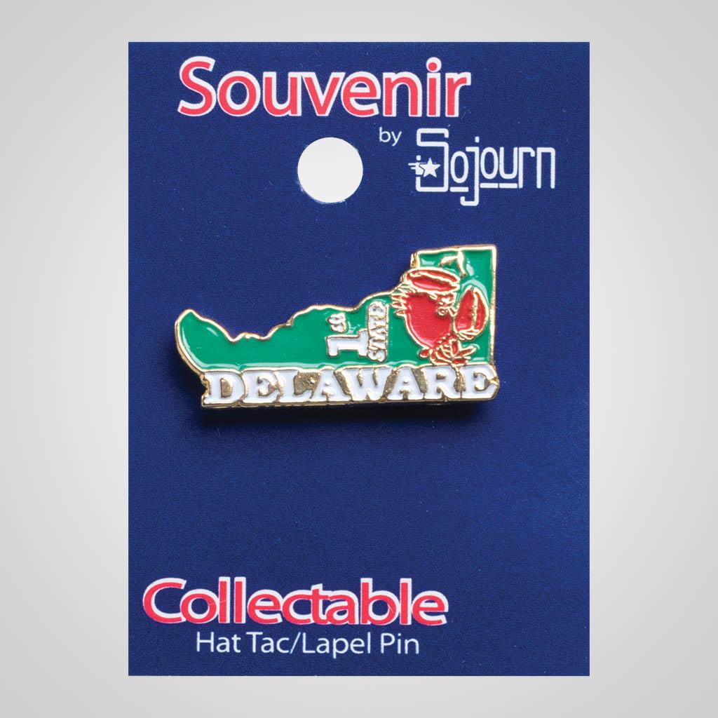 22125DE - Lapel/Hat Pin, Delaware, Carded