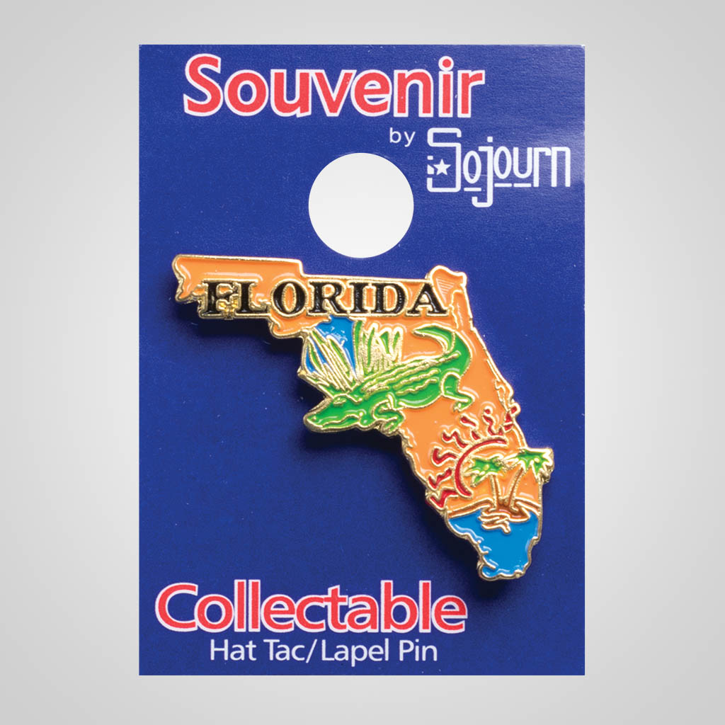 22125FL - Lapel/Hat Pin, Florida, Carded