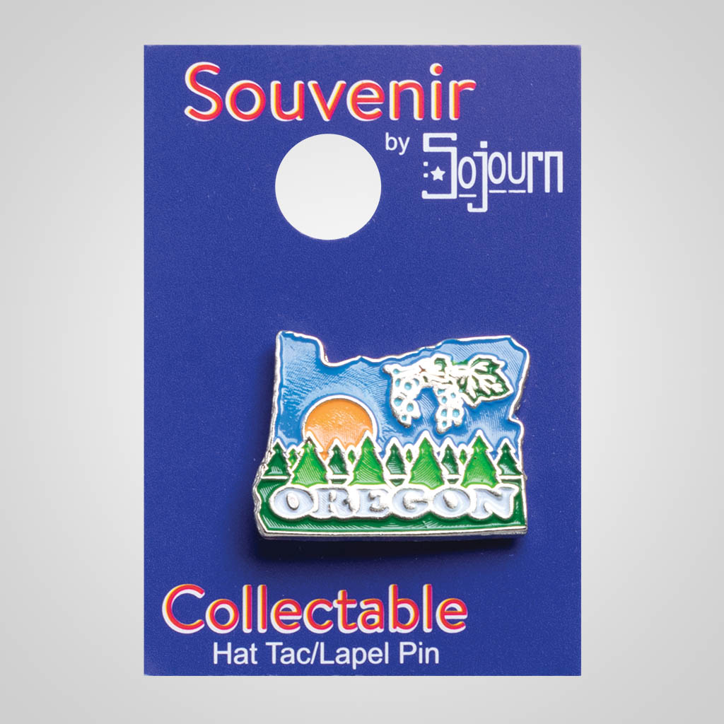 22125OR - Lapel/Hat Pin, Oregon, Carded