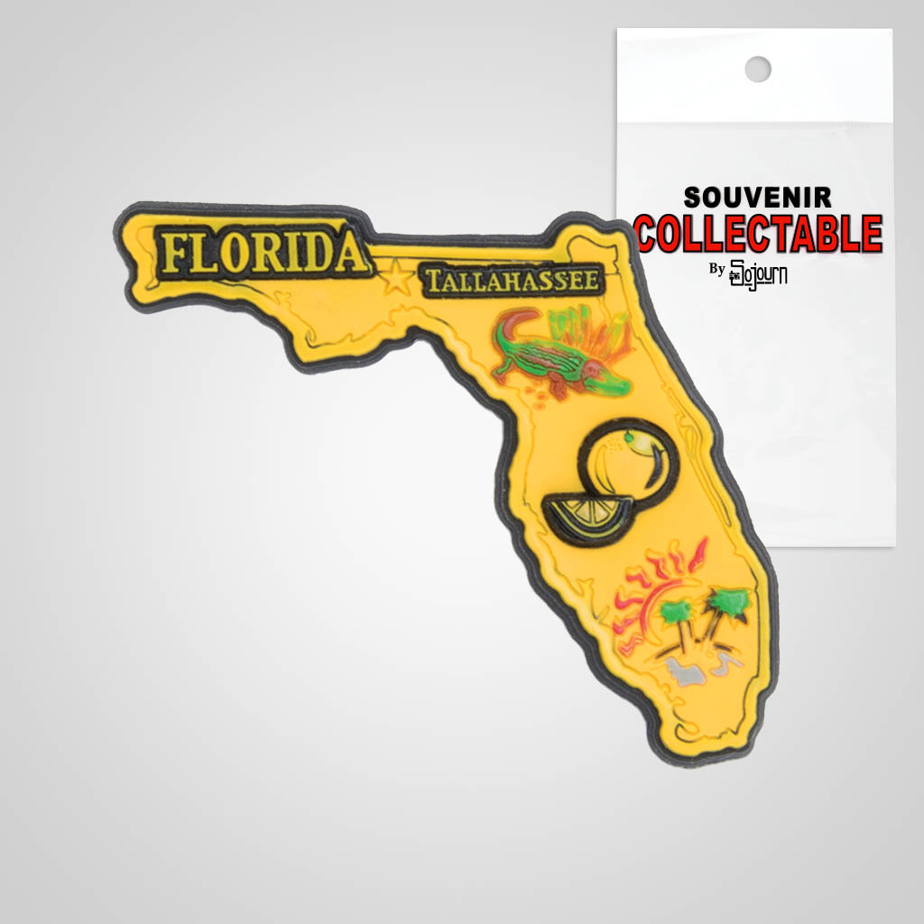 22161FL - PVC State Magnet, Florida, Bagged