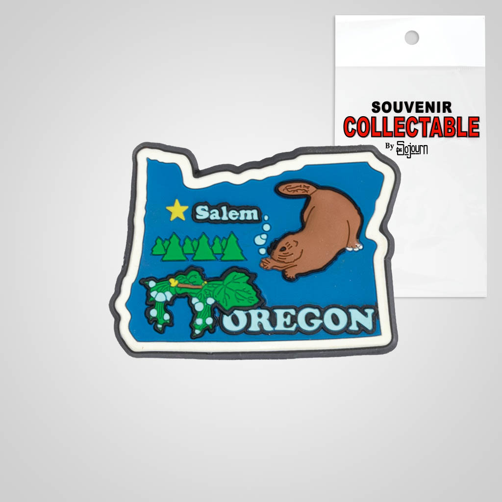 22161OR - PVC State Magnet, Oregon, Bagged
