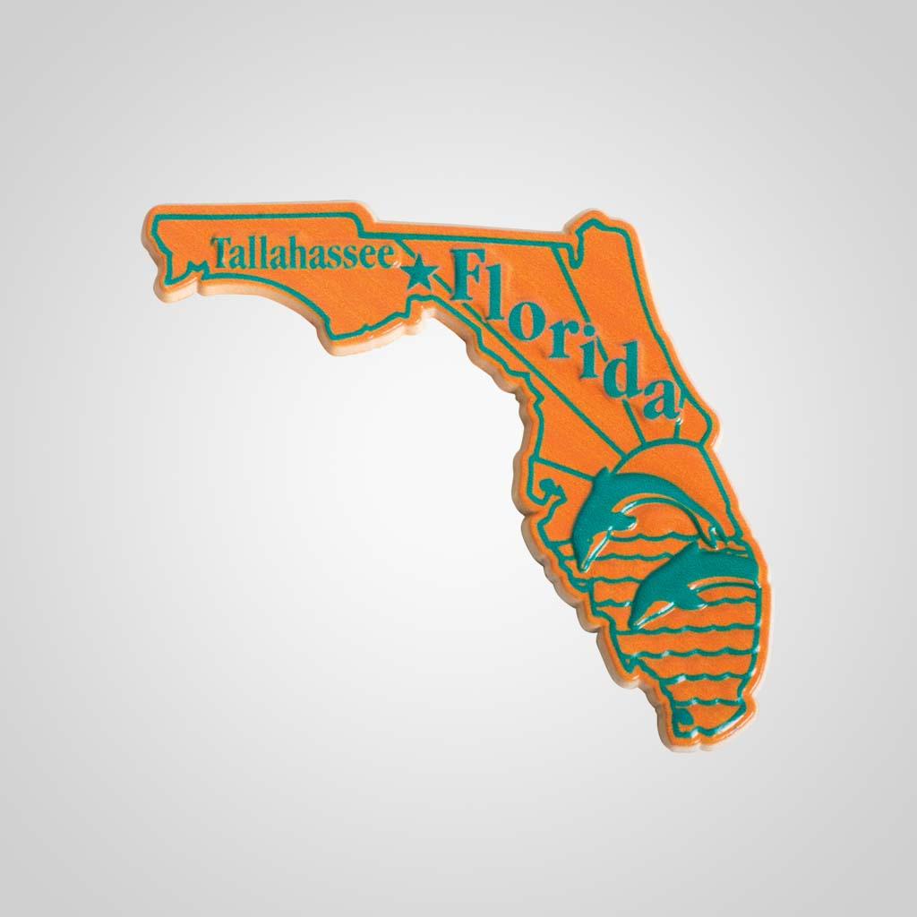 22320FL - 2-Color State Magnet, Florida, Bulk