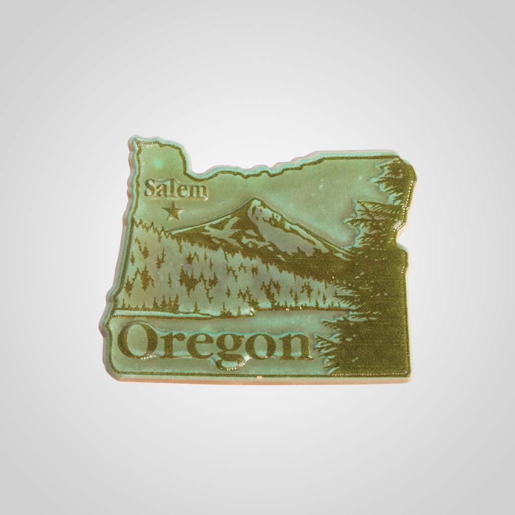 22320OR - 2-Color State Magnet, Oregon, Bulk