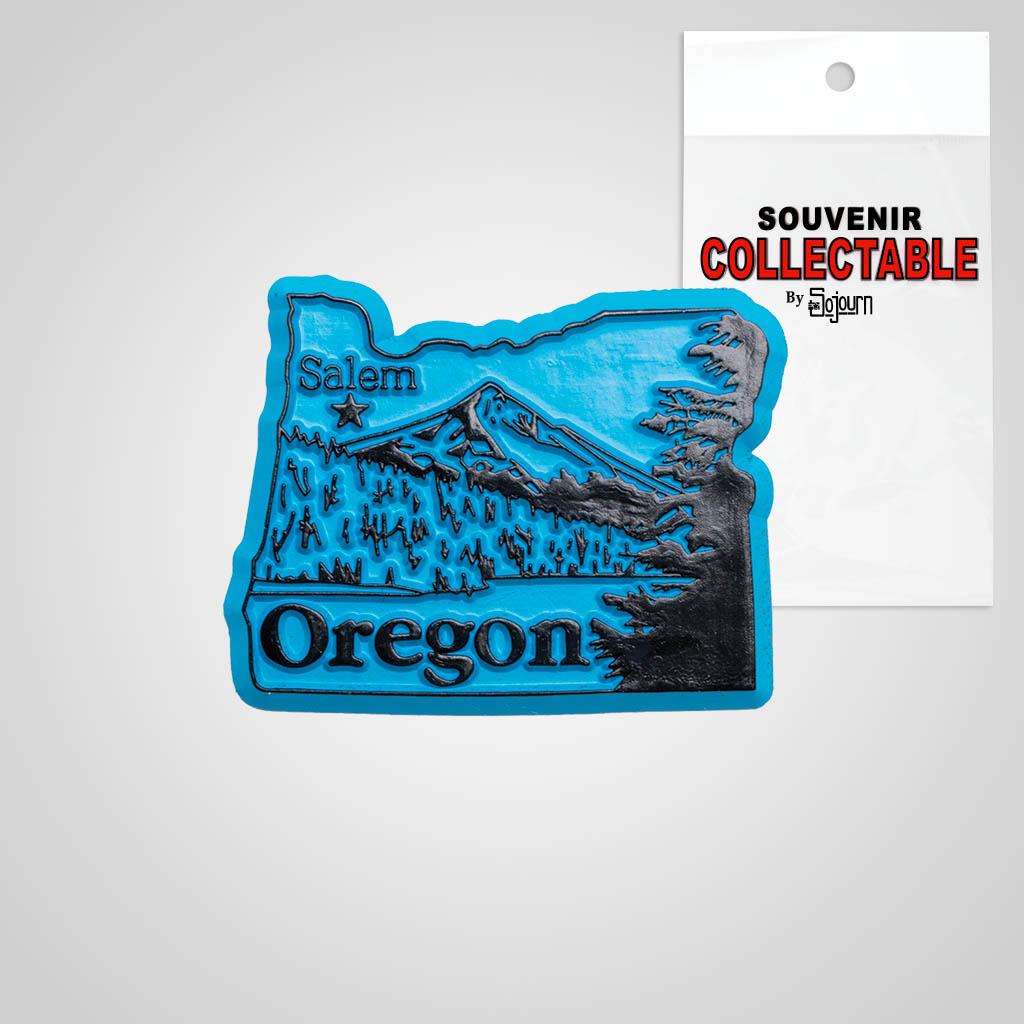 22321OR - 2-Color State Magnet, Oregon, Bagged