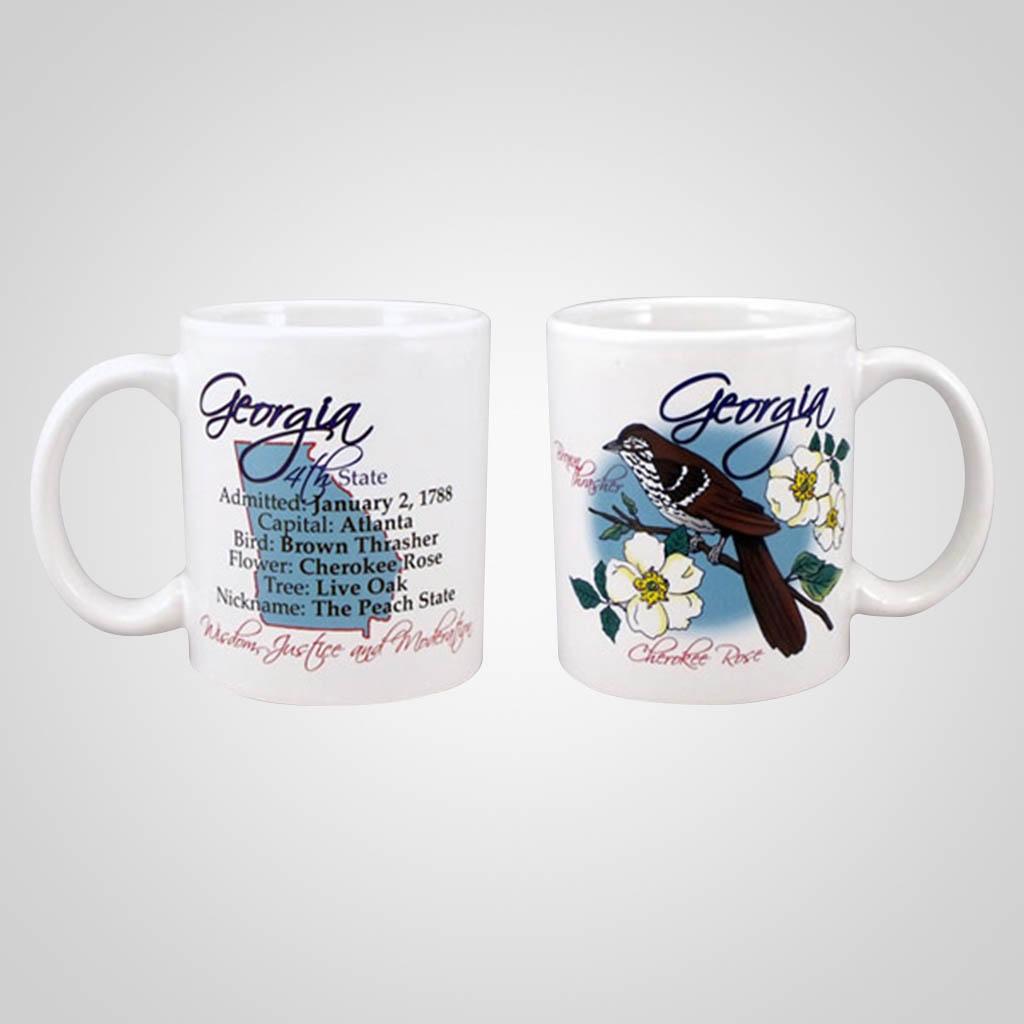 22347GA - State Bird & Flower Mug, Georgia