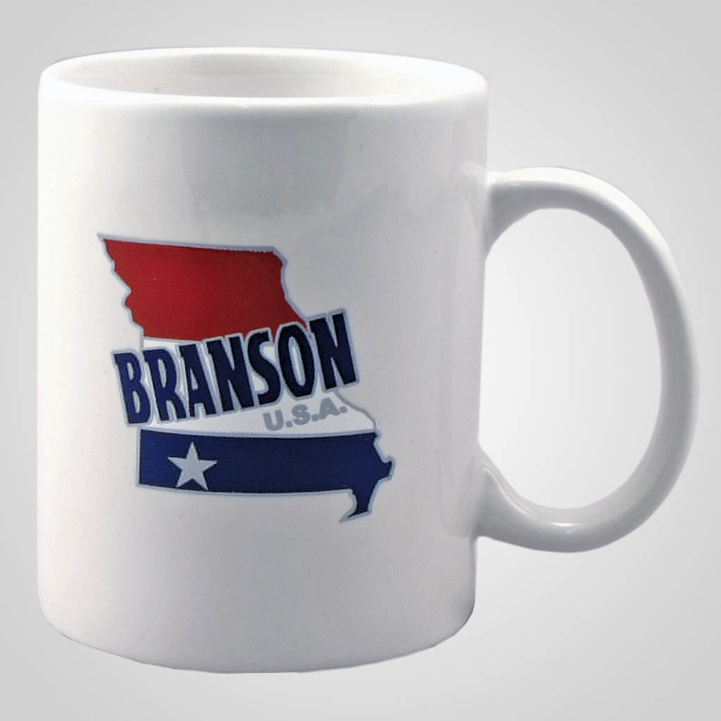 22467BR - Branson Red White Blue Map Mug
