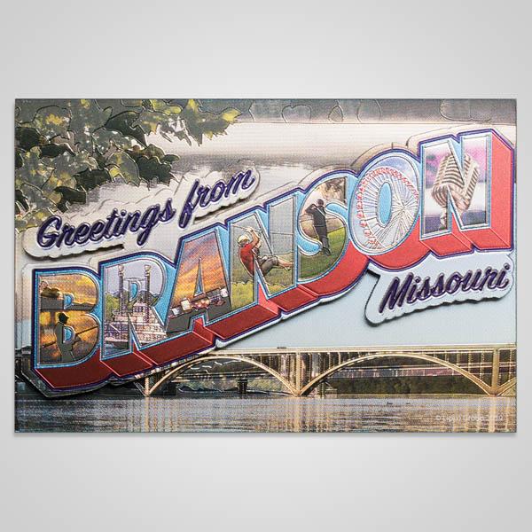 22476BR - Branson Retro Postcard Foil Magnet