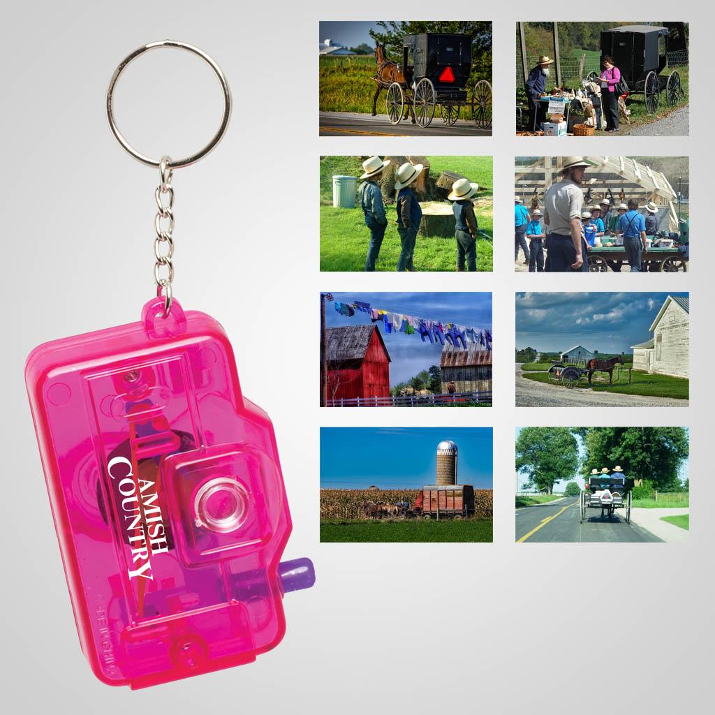 29054AC - Mini 8-View Camera Keychain, Amish Country