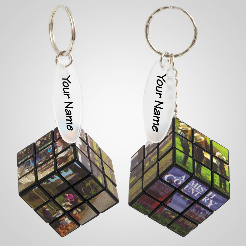 29055AC - Amish Country Mini Cube Puzzle Keychain