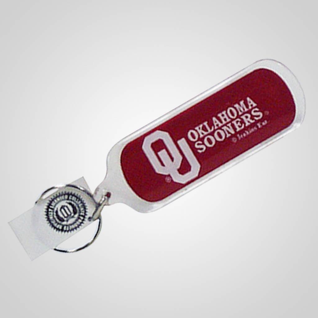 3-20226OKU - Oklahoma Sooners Lucite Keychain