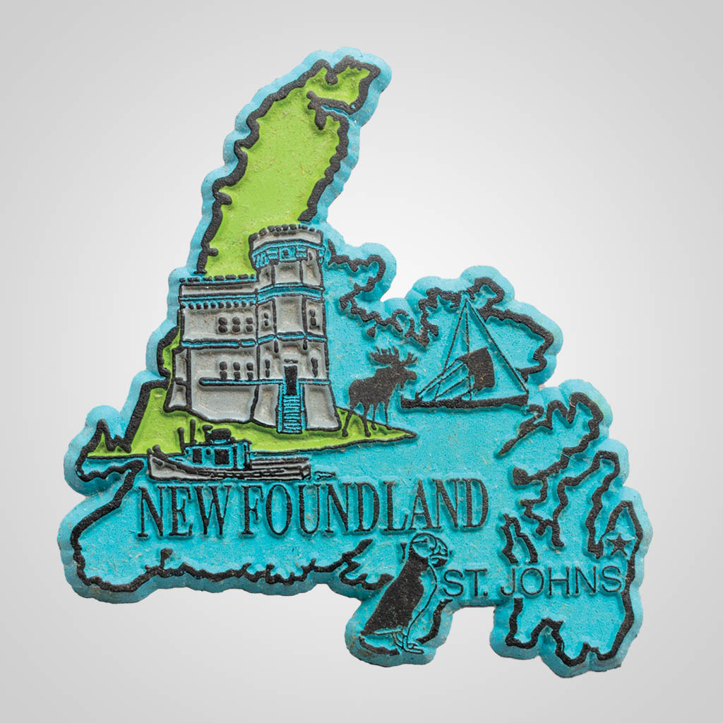 3-500NF - Newfoundland Map 4-Color Magnet