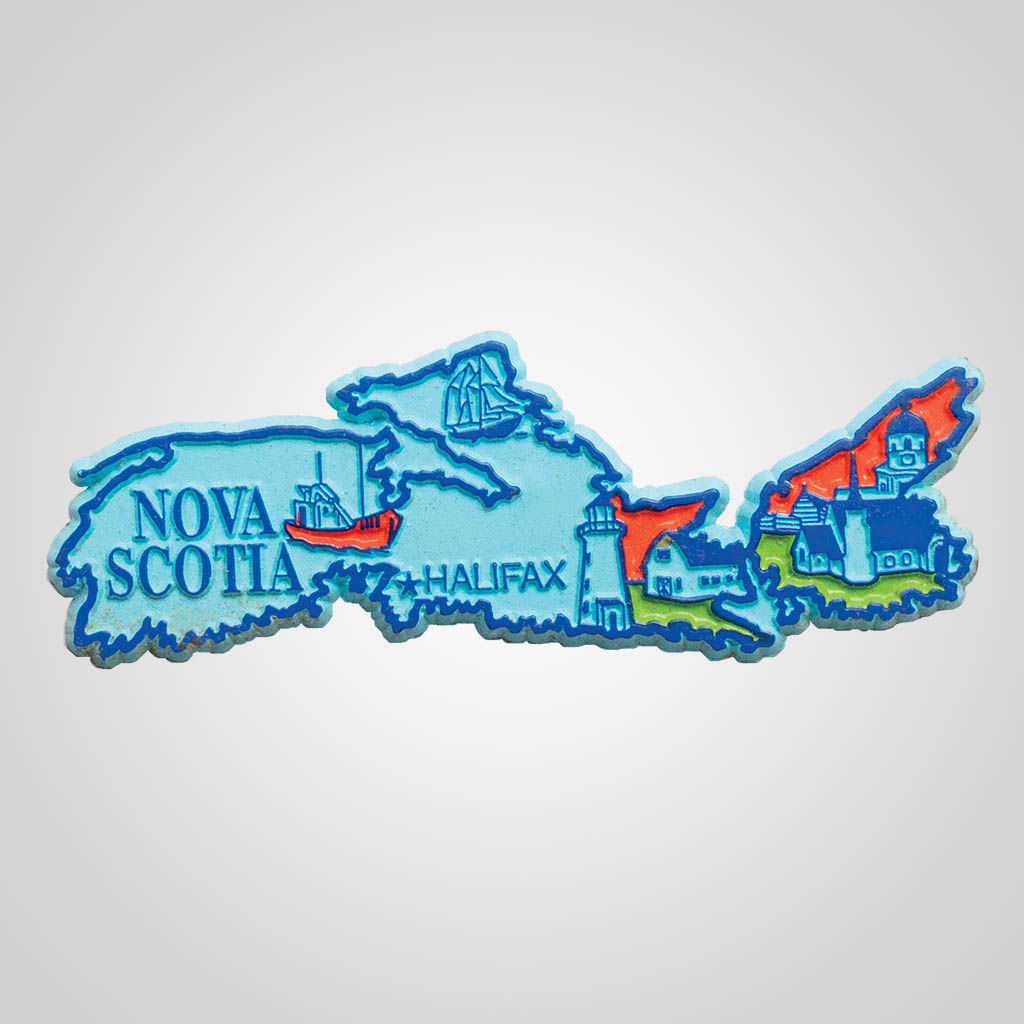 3-500NS - Nova Scotia Map 4-Color Magnet