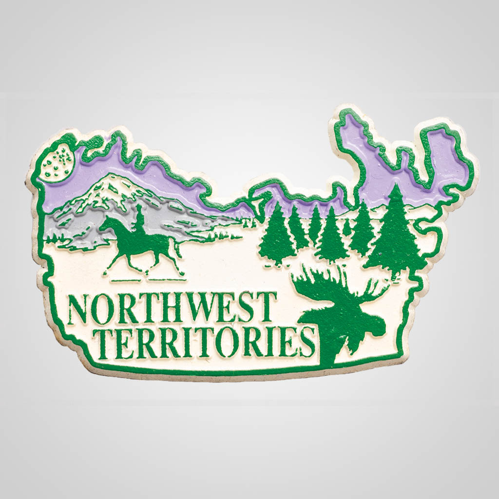 3-500NWT - Northwest Territories Map 4-Color Magnet
