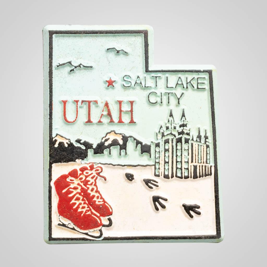 3-500UT - Utah Map 4-Color Magnet
