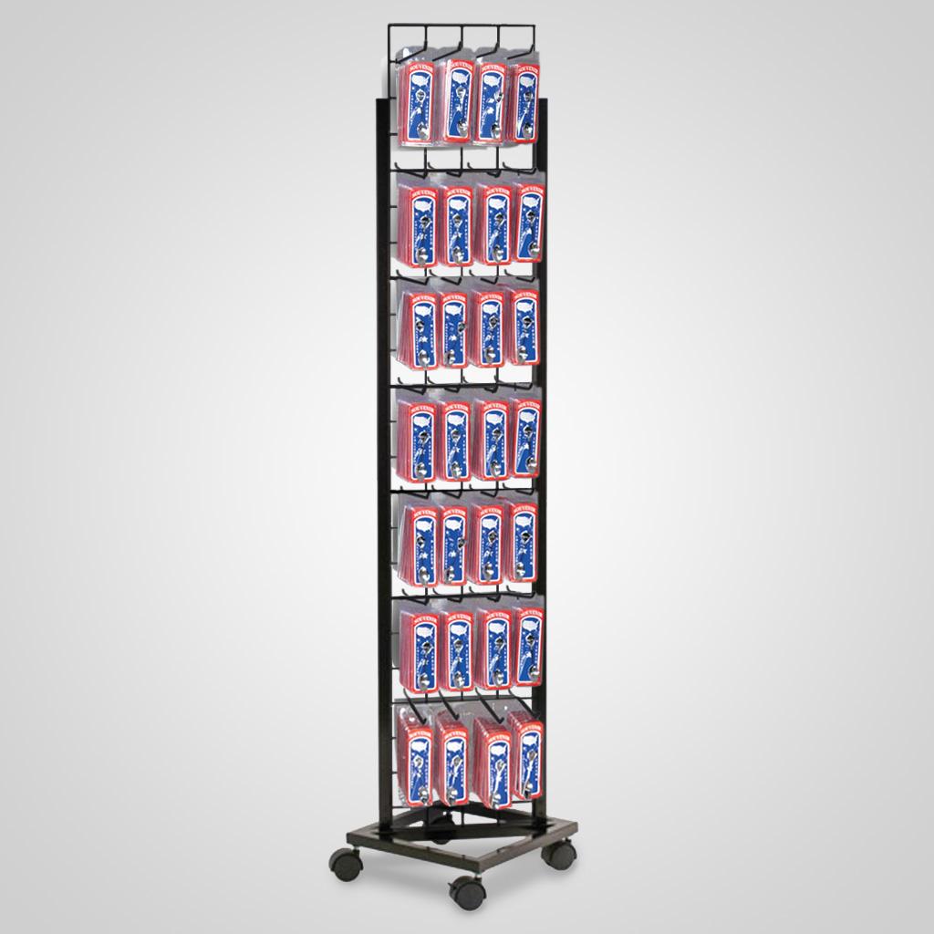 4-1004UN - Boxed Spoons Revolving Floor Display Unit