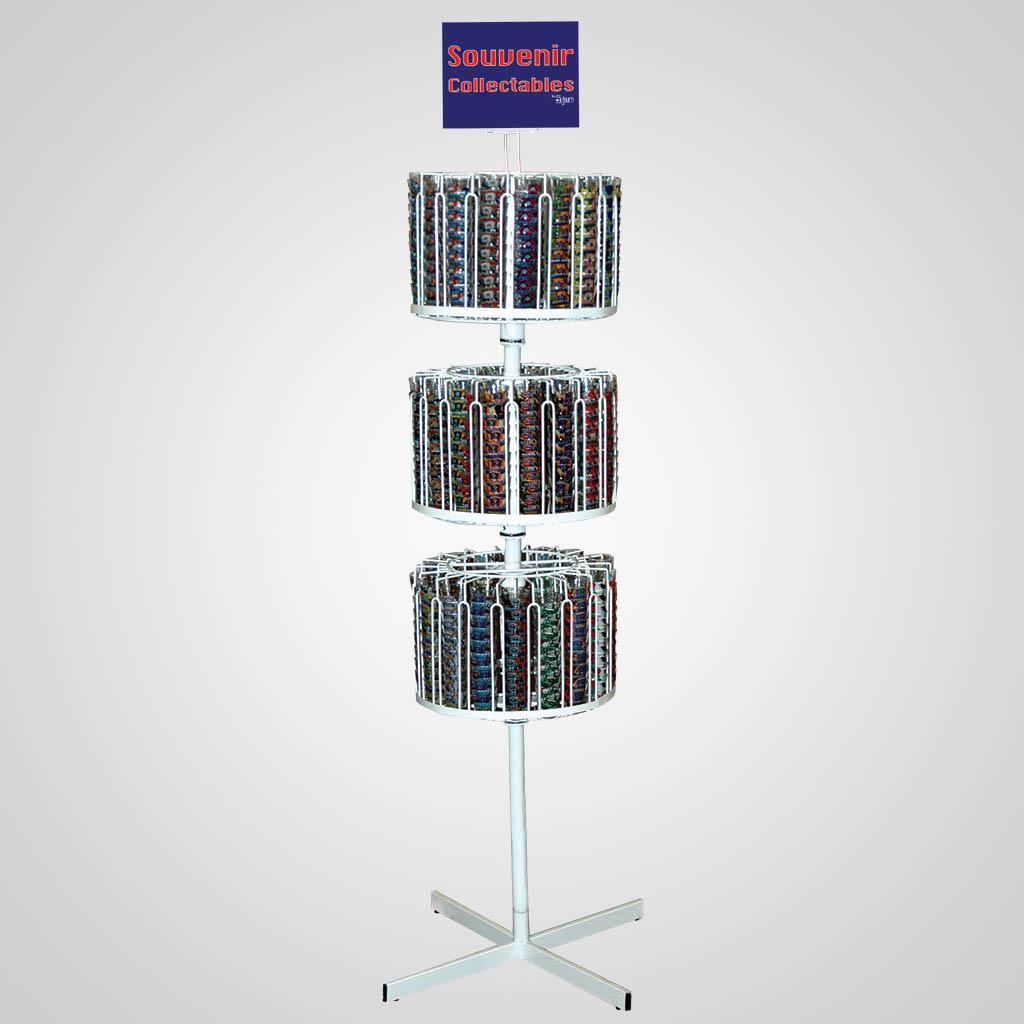 4-1010UN - Shot Glasses Floor Display Unit