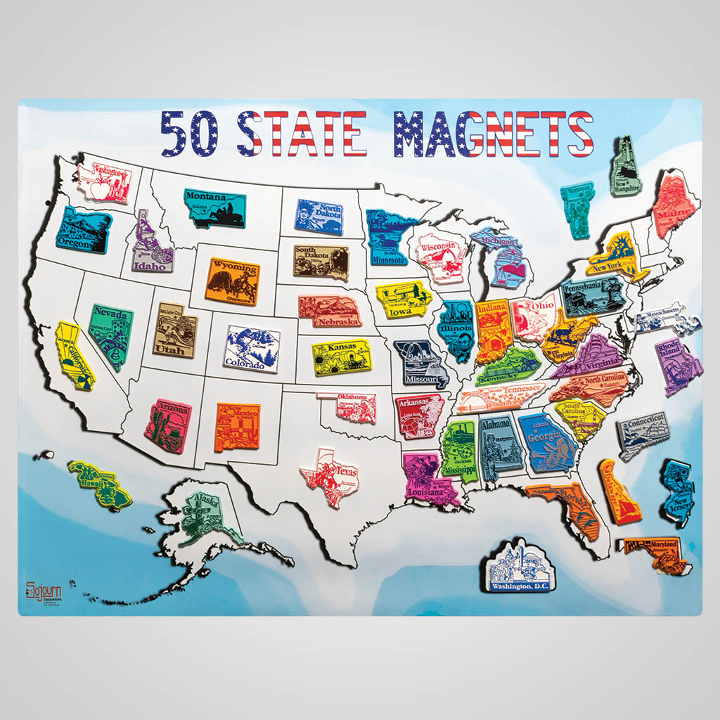 4-1019 - 50 State Magnets Map Board