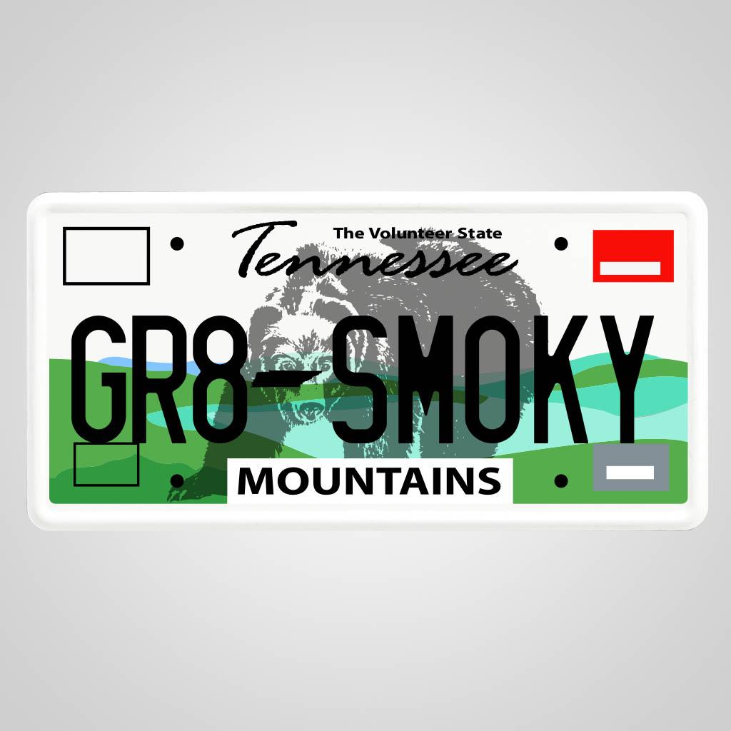 40002GSM - License Plate Magnet, GR8 SMOKY