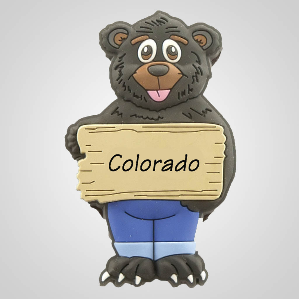 40005 - PVC Bear Magnet, Name-Drop