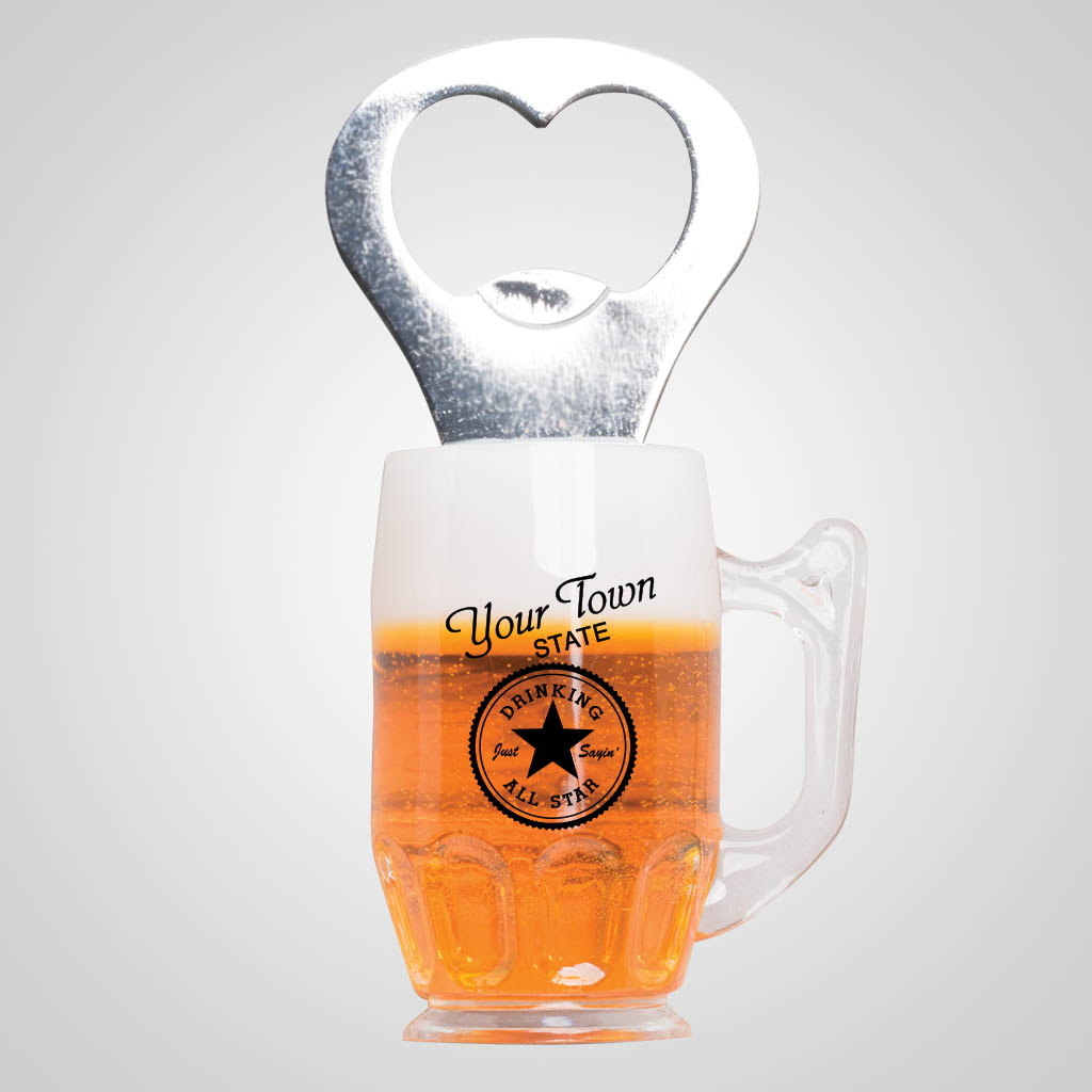 40011JP - Beer Stein Magnetic Bottle Opener, 1 Color