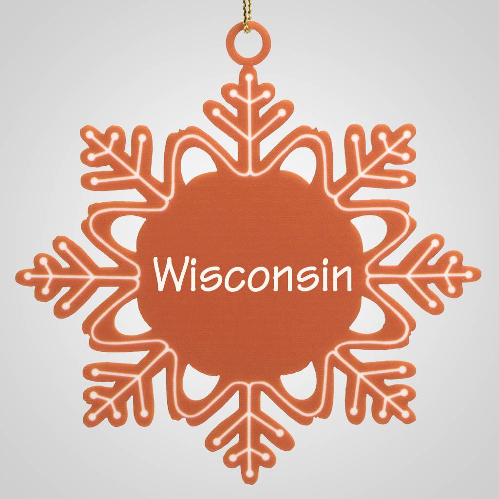 40013 - Gingerbread-Look Snowflake Ornament, Name-Drop