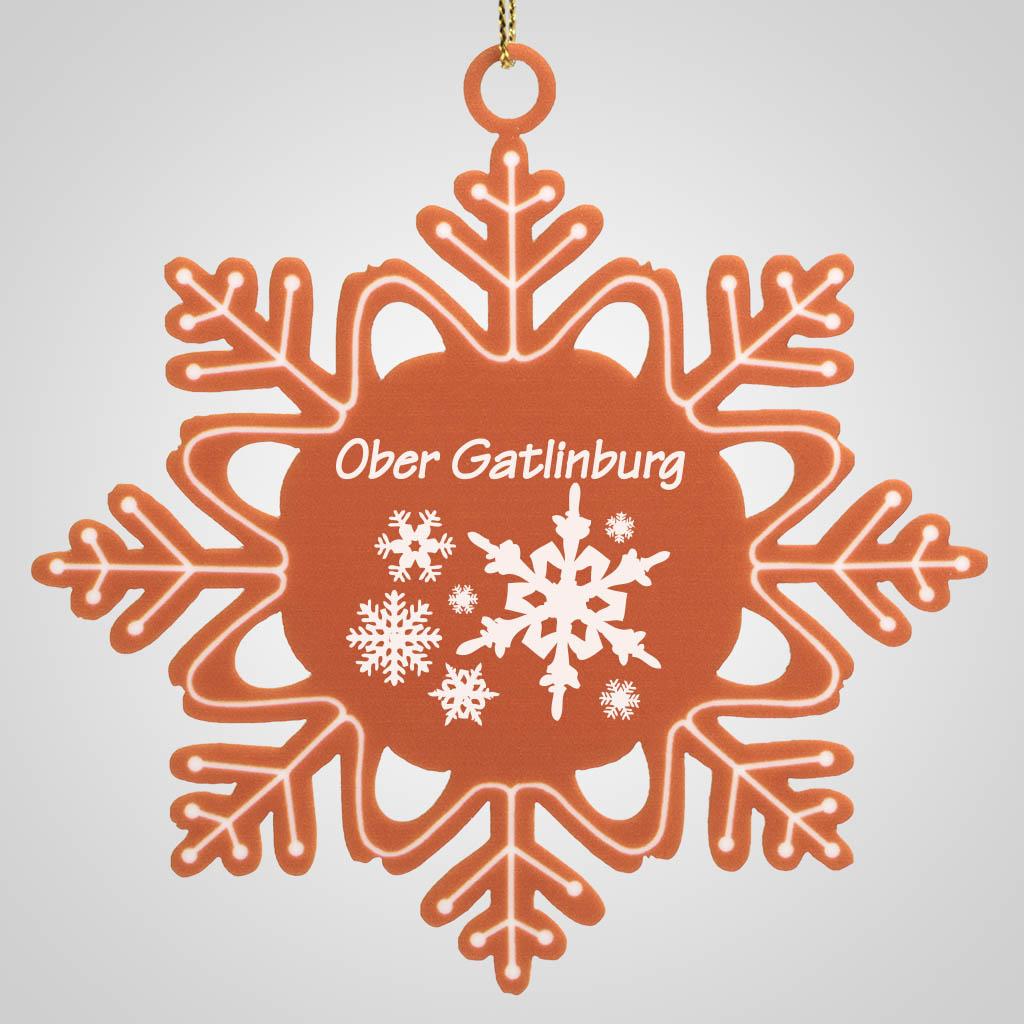 40013JP - Gingerbread-Look Snowflake Ornament, 1 Color