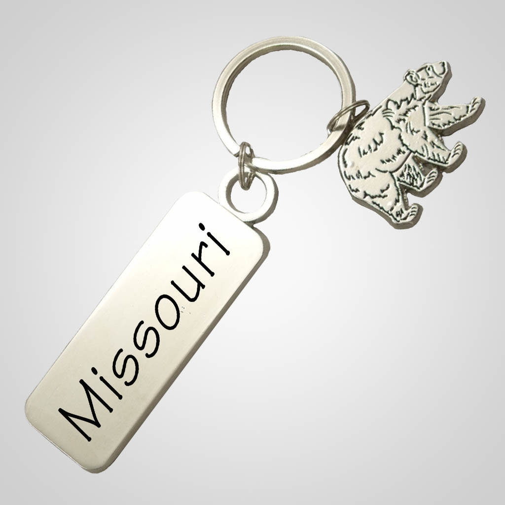 40014 - Bear-Shaped Keychain, Name-Drop Tag