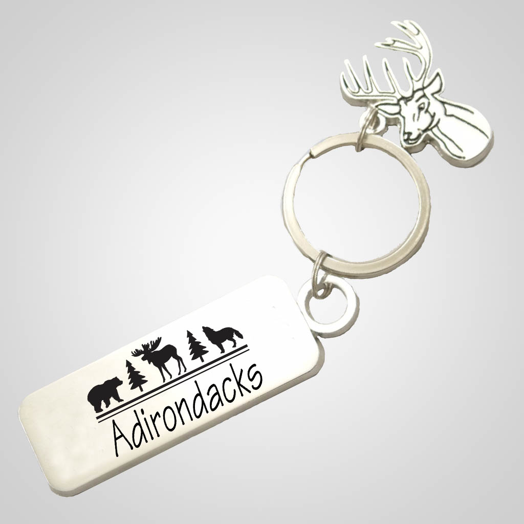 40015JP - Deer-Shaped Keychain, 1 Color Tag