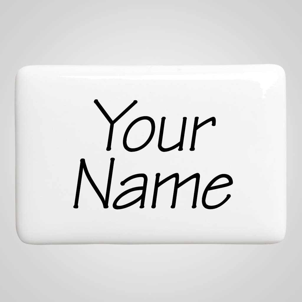 40019 - Rectangular Ceramic Magnet, Name-Drop