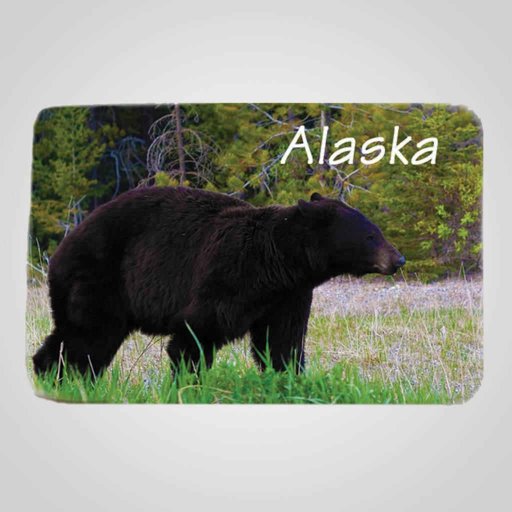40019BEA - Rectangular Ceramic Magnet, Bear Design