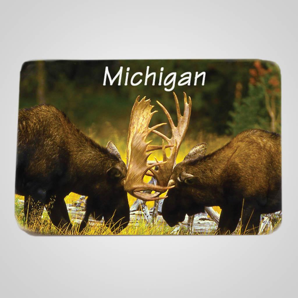 40019MOO - Rectangular Ceramic Magnet, Moose Design