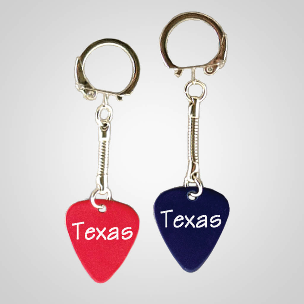 40025 - Guitar Pick Keychain, Name-Drop