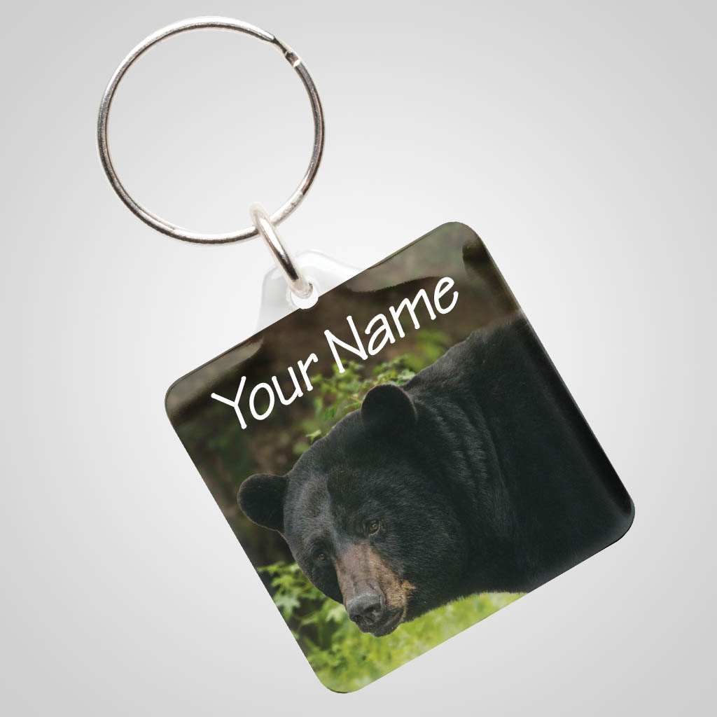 40027BEA - Clear Acrylic Keychain With Bear