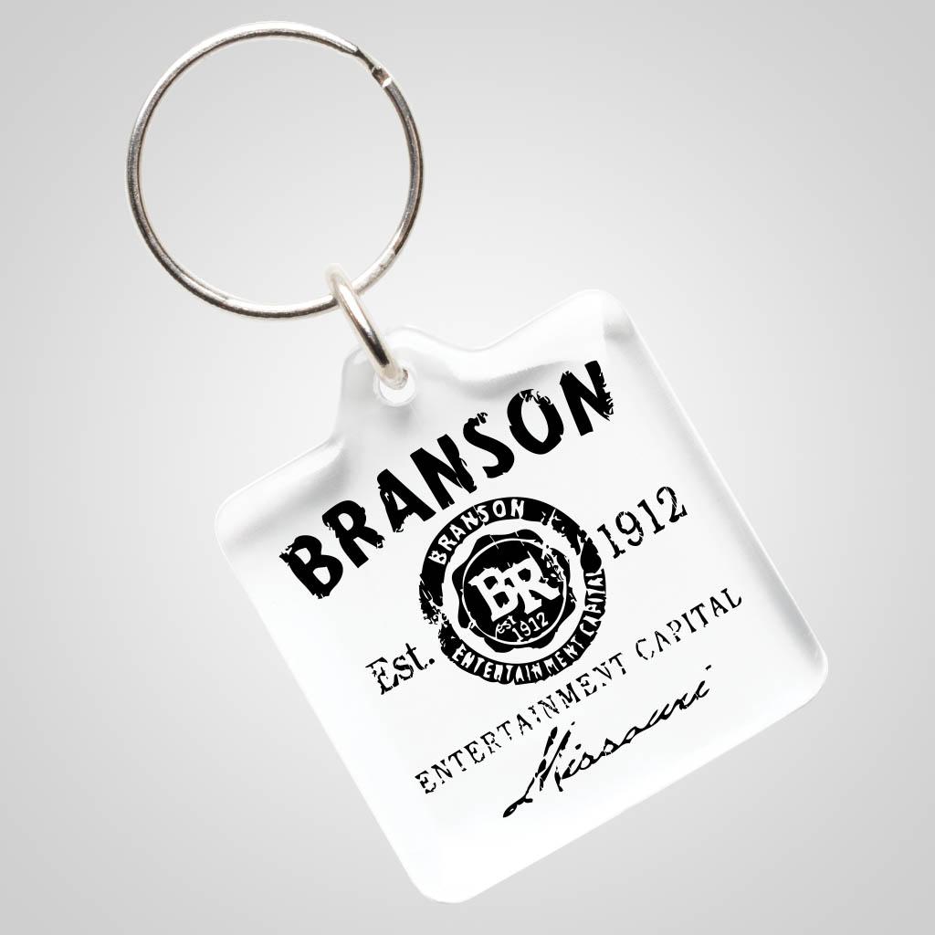 40027BR__01 - Clear Acrylic Keychain, Branson Design