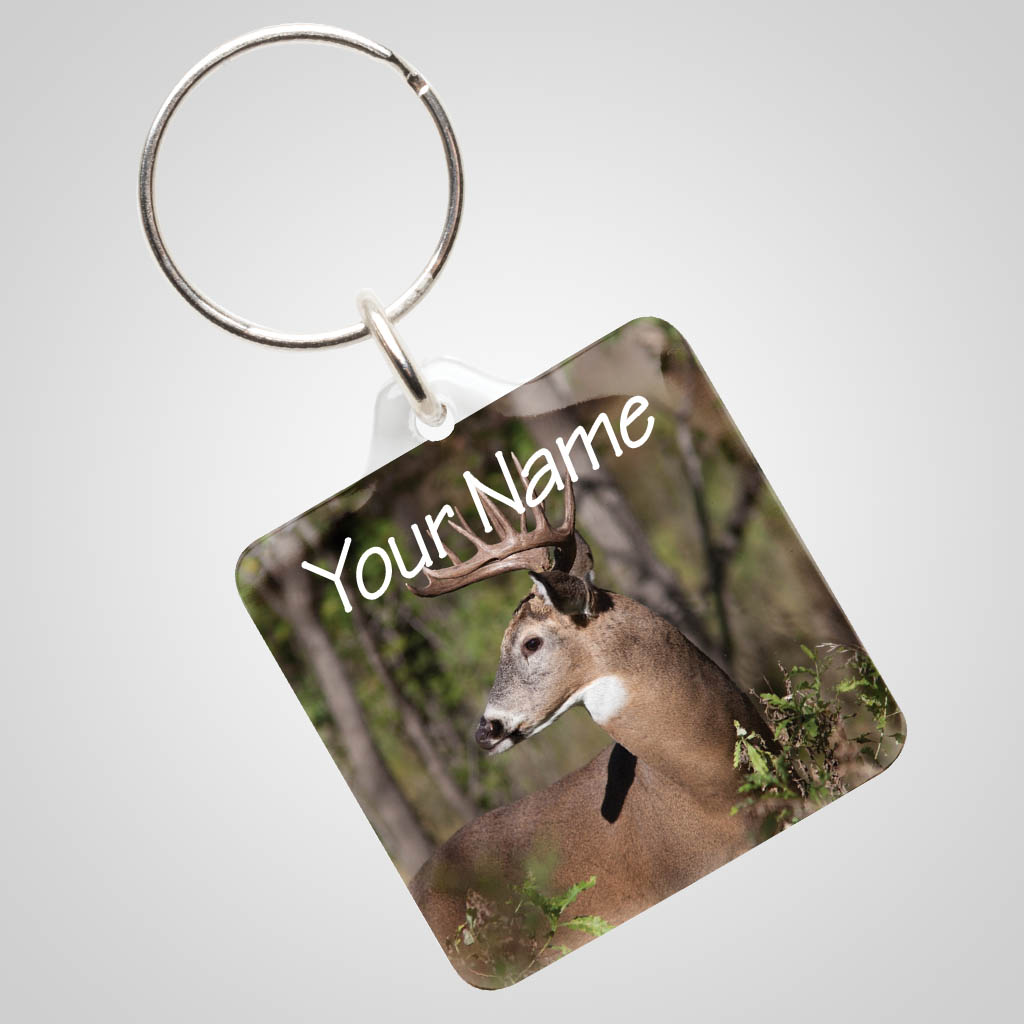 40027DEE - Clear Acrylic Keychain With Deer