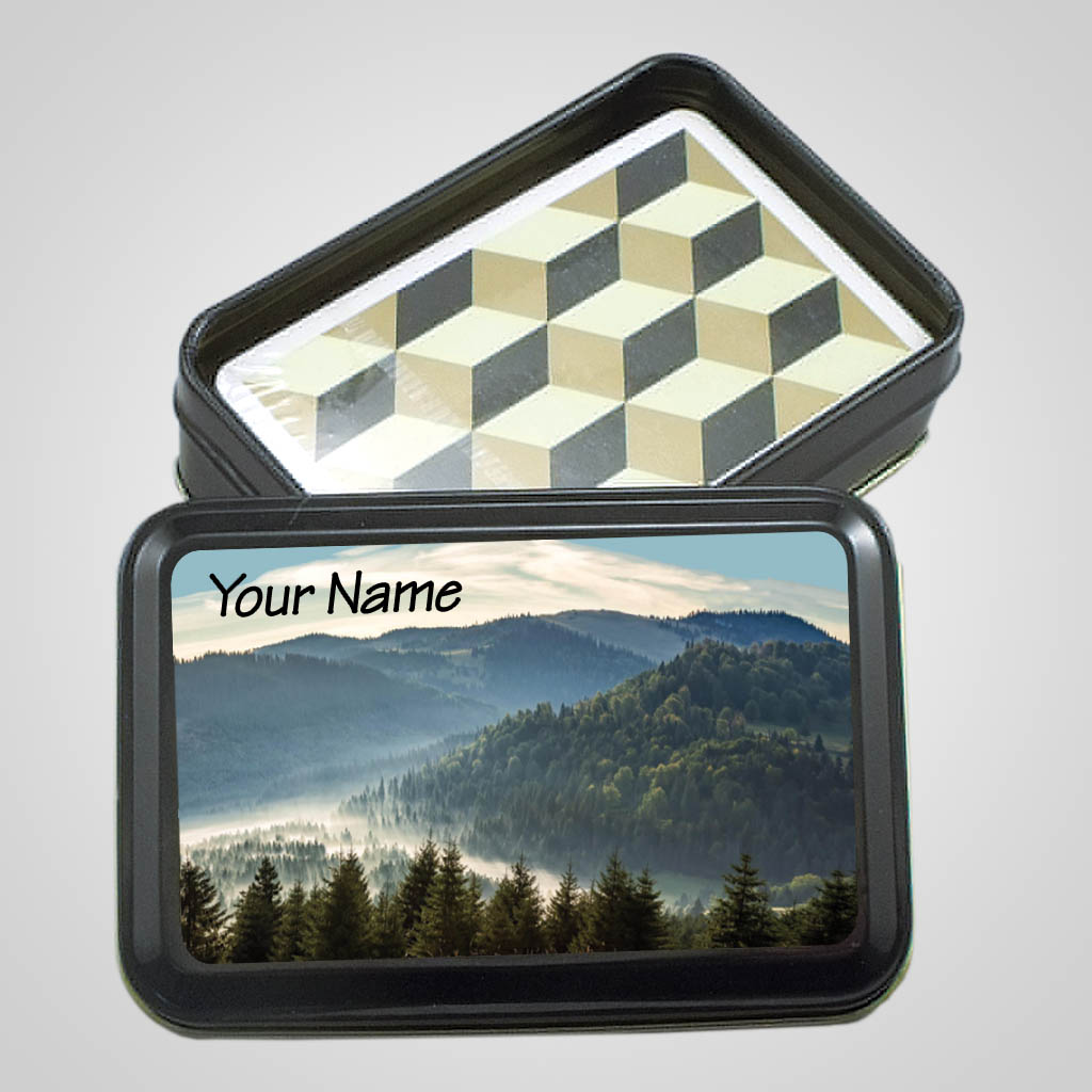 40033MTN - Playing Cards In Tin, Mountain Design