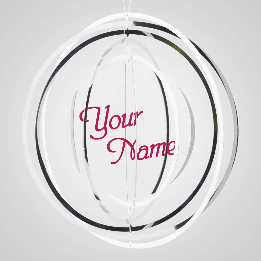 40034 - Metal Spinner Ornament, Name-Drop