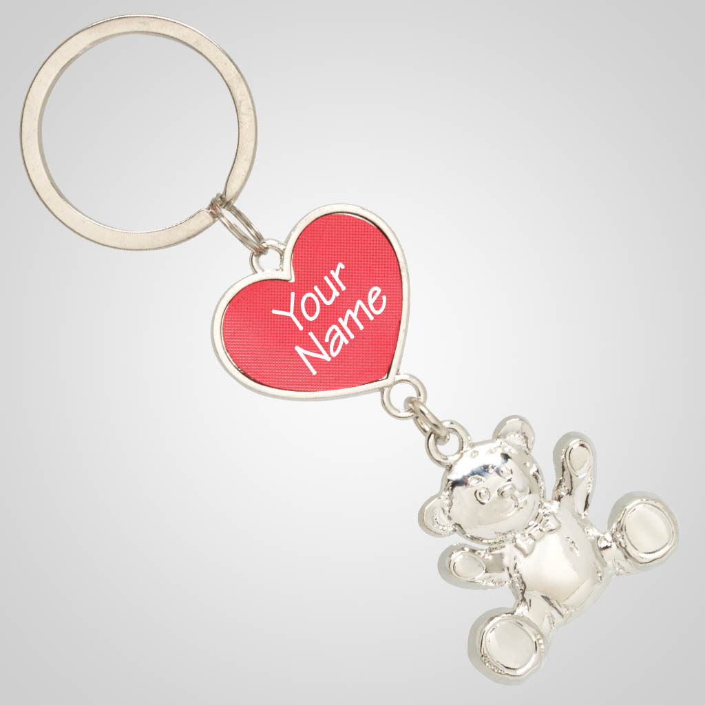 40041 - Heart & Bear Keychain, Name-Drop