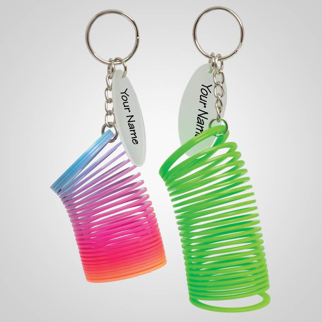 40051 - Spiral Plastic Spring Keychain, Name-Drop
