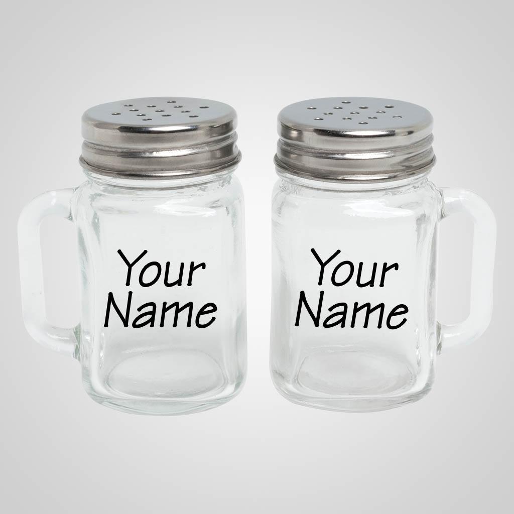 40053 - Mason Jar Salt & Pepper, Name-Drop