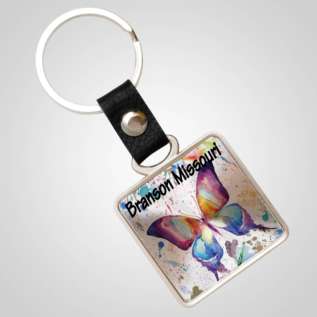 40056JPM - Foil Zinc Keychain, Multi-Color