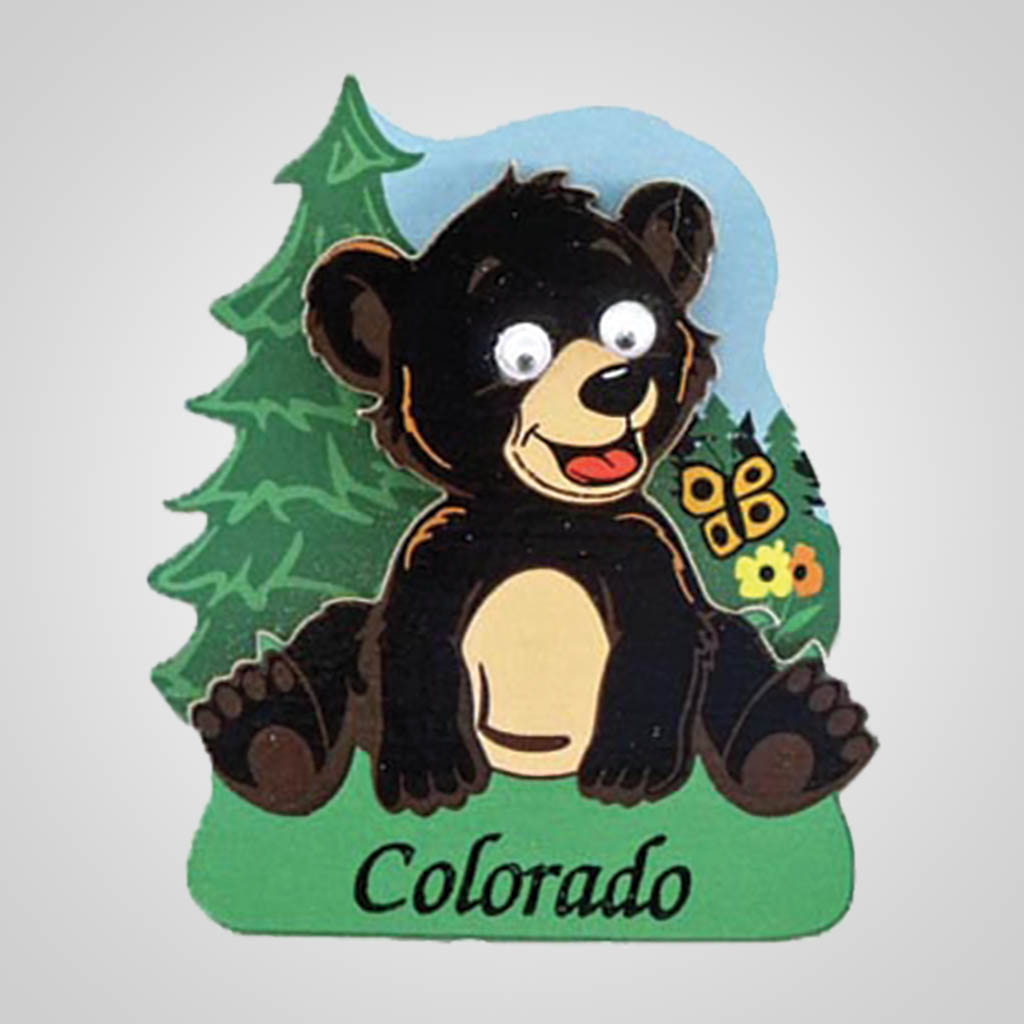 40062 - Comic Action-Eyes Bear Magnet, Name-Drop
